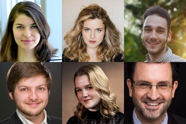 Vanessa Croome (soprano), Joé Lampron-Dandonneau (ténor), Raphaël Laden-Guindon (baryton), Sophie Naubert (soprano) et Odile Portugais (soprano)