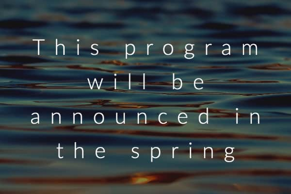This program will be announced in the spring (1)